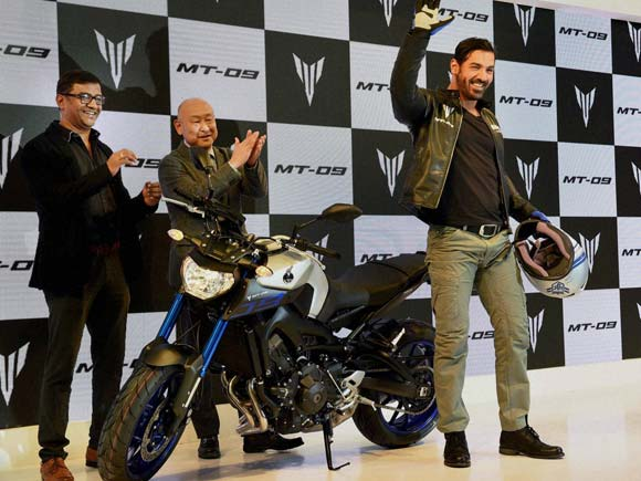 Yamaha , Yamaha india, Delhi auto expo , MT-09, John abraham at auto expo, Yamaha bike, Yamaha MT-09