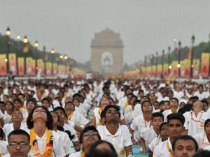 yoga camp at Rajpath