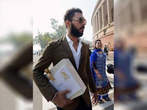 Yuvraj Singh at Parliament to meet with Prime Minister Narendra Modi