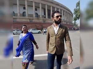 Yuvraj Singh with his mother Shabnam Singh