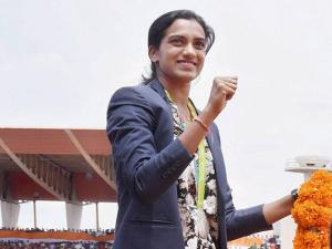 Olympic Silver Medalist P.V.Sindhu receives warm welcome after her arrival in Hyderabad