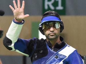 Indian's shooter Abhinav Bindra after lost in the Men's 10m Air Rifle qualifying round