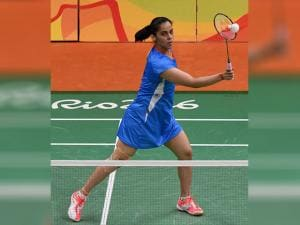 Saina Nehwal during the Women's Single match in the Rio Olympic 2016