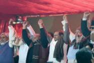 Janata Parivar protests against Modi govt at Jantar Mantar