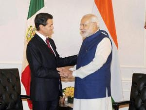 PM Modi meeting the President of Mexico, Enrique Pena Nieto