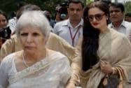 Anu Aga and Rekha at Parliament