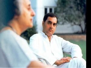 Rajiv with Indira