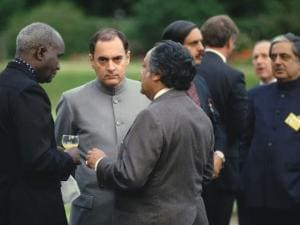 Rajiv with other leaders