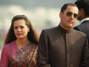 Rajiv with Sonia