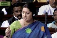 Smriti Irani speaks in the Lok Sabha