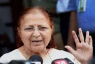 Sumitra Mahajan speaks to media