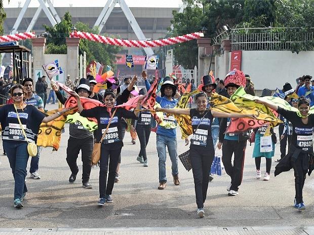 Delhi Half Marathon 2017, Airtel Delhi half marathon, marathon, runners, participants