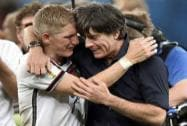 Bastian, Loew embrace after final match