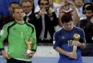 Neuer, Messi after the final match