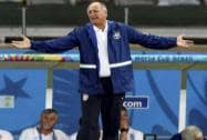 Brazil's coach Scolari during the match