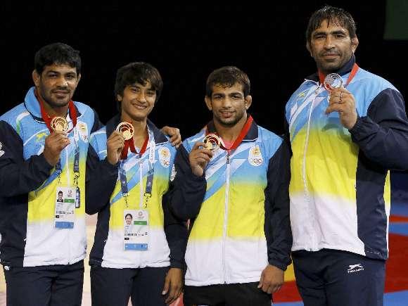 Sushil Kumar, Vinesh, Amit Kumar, Rajeev Tomar