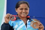 Lajja Gauswami wins bronze medal at CWG