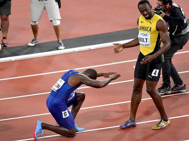 Usain Bolt, Usain Bolt Farewell, Usain Bolt 100-m farewell race, Justin Gatlin, World Athletics Championships, London, Jamaica
