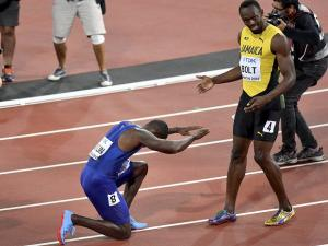 Usain Bolt's 100-m party ends in London