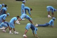 Indian team trains at SCG ahead of semis versus Australia