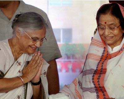 Pratibha Patil and Sheila Dikshit
