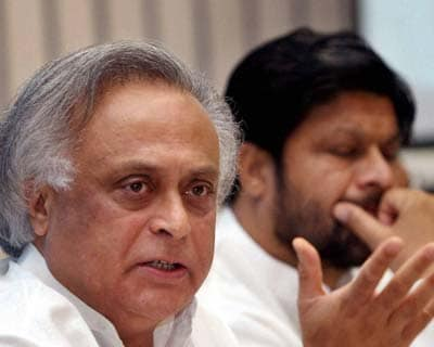 <p>Union Minister for Rural Development Jairam Ramesh addresses the National Conference of Ministers on Integrated Watershed Management Programme in New Delhi on Friday.</p>