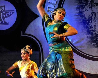 Actress Shobana performs at an award ceremony