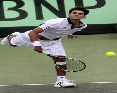 Yuki Bhambri plays against New Zealand's Daniel King
