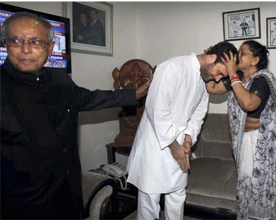 Rahul met Pranab to congratulate him for his victory