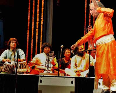 Pt Birju Maharaj at the Music Summit with World Masters