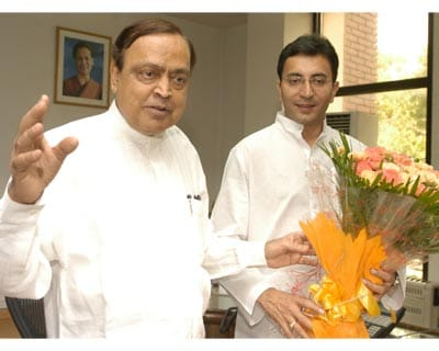 Petroleum Minister Murli Deora and Minister of State Jatin Prasad assumed charge of office in New Delhi