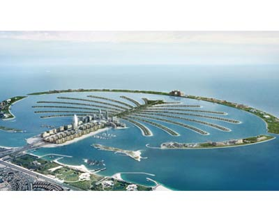Dubai World, in which the Royal family of Dubai has a large stake, encounters serious financial difficulties. the inivestment firm is forced to seek a reschedulement of its debts amounting to $59 billion, as much as three quarters of the total debt of the emirates. <P> <b>(Courtesy: Palm Jumeirah website)</b> </P>