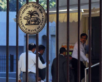 <p><b>The Reserve Bank of India (RBI) logo is pictured outside its head office in Mumbai</b> </p><p> The Reserve Bank of India raised interest rates on Thursday for the eighth time since last March, in line with expectations, and warned both of inflationary pressures and emerging risks to growth. </p><p> The Reserve Bank of India (RBI) said it was likely to maintain its anti-inflationary bias, reinforcing market expectations that further rate increases are in the pipeline, and raised its forecast for headline inflation at the end of March to 8%, from its earlier 7%. </p><p> &#39;The underlying inflationary pressures have accentuated, even as risks to growth are emerging. Rising global commodity prices, particularly oil, are a major contributor to both developments,&#39; the central bank said in its mid-quarter policy review statement. </p><p> The RBI raised the repo rate, its main lending rate, by 25 basis points to 6.75%, and raised the reverse repo rate, or borrowing rate, to