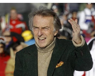 "<p><b>Ferrari Chairman Luca Cordero di Montezemolo gestures as he arrives during the ""Wrooom, F1 and MotoGP Press Ski Meeting\"", Ducati and Ferrari&#39;s annual media gathering in Madonna di Campiglio</b>