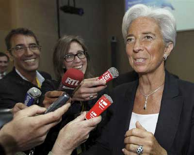 <p><b>France&#39;s Finance and Economy Minister Christine Lagarde speaks to members of the media at a G20 Globalisation conference in Paris</b></p><p>French Finance Minister Christine Lagarde looks set to emerge on Tuesday as the International Monetary Fund&#39;s new chief, maintaining the tradition of a European heading the global lender.</p><p>Lagarde, 55, should easily get the majority support of the IMF&#39;s board over Mexico&#39;s central bank governor, Agustin Carstens, to become the first woman to head the institution.</p><p>While Carstens will get the backing of Latin America, Canada and Australia, his support appears too thin to break Europe&#39;s 64-year hold on the IMF post.</p><p>The 24-strong IMF board meets on Tuesday to finalize a process that began in May after Dominique Strauss-Kahn resigned as IMF managing director to defend himself against charges of sexual assault and attempted rape. He denies the charges.</p>