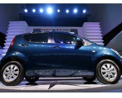 <P> The &#39;Ritz&#39; car stands on a display during its launch in New Delhi.  </P><P> Maruti Suzuki, India&#39;s top car maker, is looking to advance its capacity expansion plans, Managing Director Shinzo Nakanishi said on August 4. </P><P> Its second unit in Haryana is scheduled to come up by April 2012. Nakanishi said the company was working on ways to advance that to an earlier date. </P>