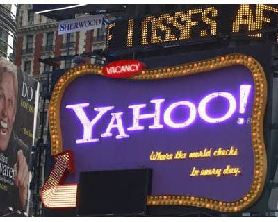 <p><b>A Yahoo billboard is seen in New York&#39;s Times Square</b>