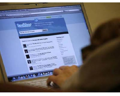 <p><b>A Twitter page is displayed on a laptop computer in Los Angeles</b>