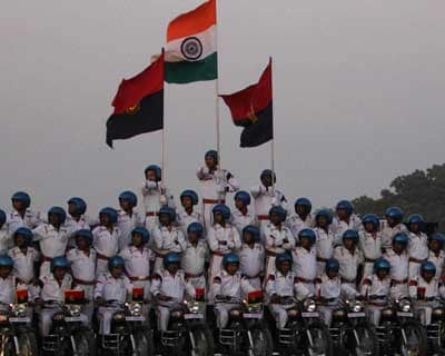BSF daredevils at 150th anniversary of Indian police