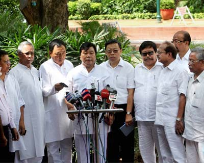 MPs from North Eastern states address the media on Bangalore exodus