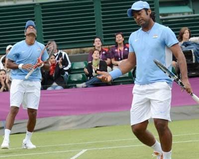 Leander Paes, V Vardhan react after losing in men's doubles