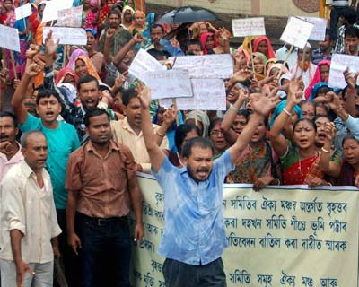 Rally in Assam to demand land for indigenous people