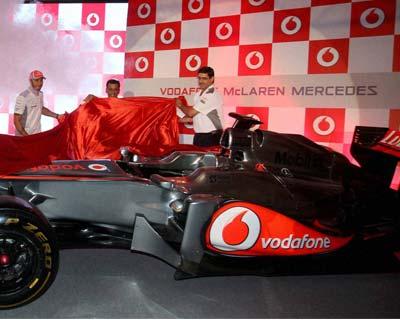 Lewis Hamilton unviels McLaren Mercedes' racing car