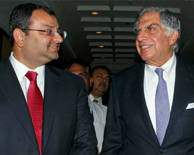 Ratan Tata, Cyrus Mistry at the Tata Global Beverages AGM
