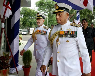 Navy chief Admiral Nirmal Verma hands over charge to successor