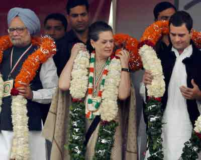Congress holds rally in Delhi