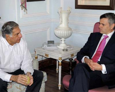 Ratan Tata meets J&K CM over expansion plans