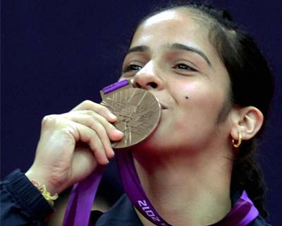 Saina celebrates bronze medal win