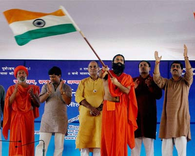 Ramdev at Ramlila for three-day fast