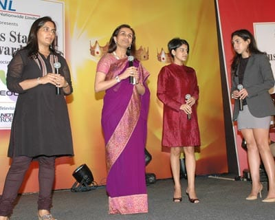 Women power: (From left) Daughter of Dilip and Gita Piramal, and executive director of Blowplast Ergonomics Aparna Piramal, ICICI CEO & MD Chanda Kochhar, Sundaram-Clayton Director (Strategy) Lakshmi Venu and Godrej Industries COO Nisa Godrej